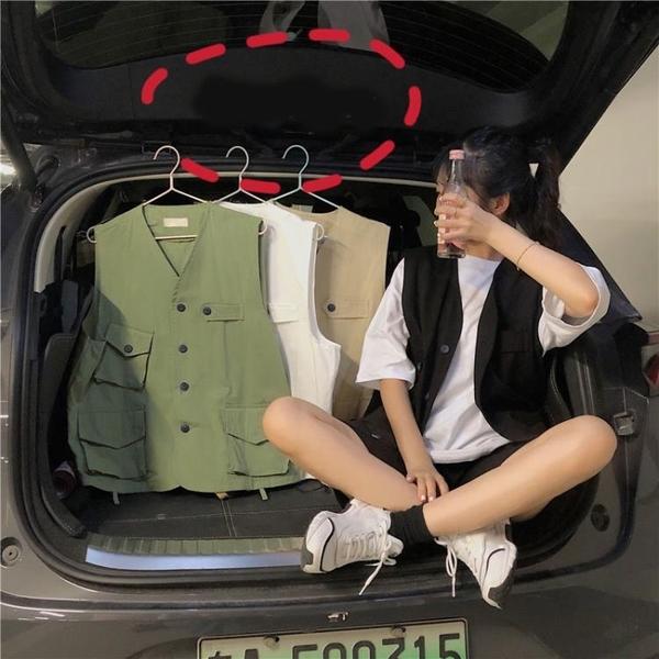 小香風馬甲外套女2020夏季新款寬鬆薄款bf工裝外穿馬夾韓版上衣潮 【ifashion·全店免運】