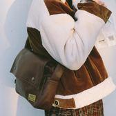 日系復古郵差包信封包斜跨背包男女情侶包袋【潮咖地帶】
