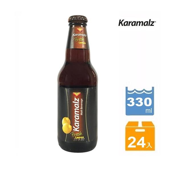 (買12瓶送12瓶)德國卡麥隆Karamalz黑麥汁(檸檬口味)_玻璃瓶裝(330ml /) 共24罐