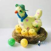 電動毛絨玩具 會下蛋的小雞母雞電動兒童玩具仿真唱歌大公雞生蛋雞小男孩玩偶