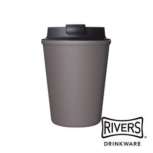 日本 Rivers SLEEK雙層隨行杯300ml-鉛灰
