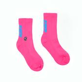HOWDE LAB 螢光世代 螢光粉 藍LOGO 中高筒襪 男女 19FW01PK