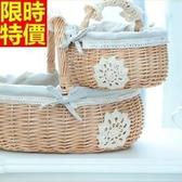 野餐籃(大)-日式蕾絲田園風郊遊用品68e2【時尚巴黎】