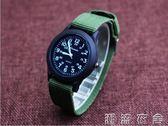 防水帆布手錶韓國版石英中兒童錶小學生數字腕錶男童潮腕錶   潮流衣舍