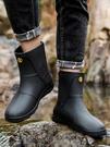 則享男雨鞋中筒防滑防水鞋工作時尚短筒雨靴...