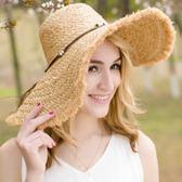 沙灘帽子女夏天海邊出游大沿帽