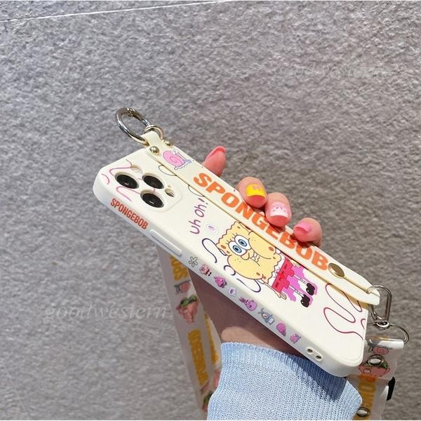 側邊潮牌卡通腕帶 OPPO Reno5 Reno4 Z Pro R17 R15 R11S R11 R9S 斜跨掛繩支架手機殼