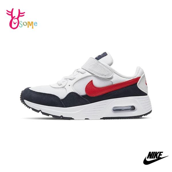 NIKE童鞋 男女童運動鞋 AIR MAX SC 氣墊 慢跑鞋 避震 耐磨 跑步鞋 氣墊運動鞋 大童 Q7157#白紅◆奧森