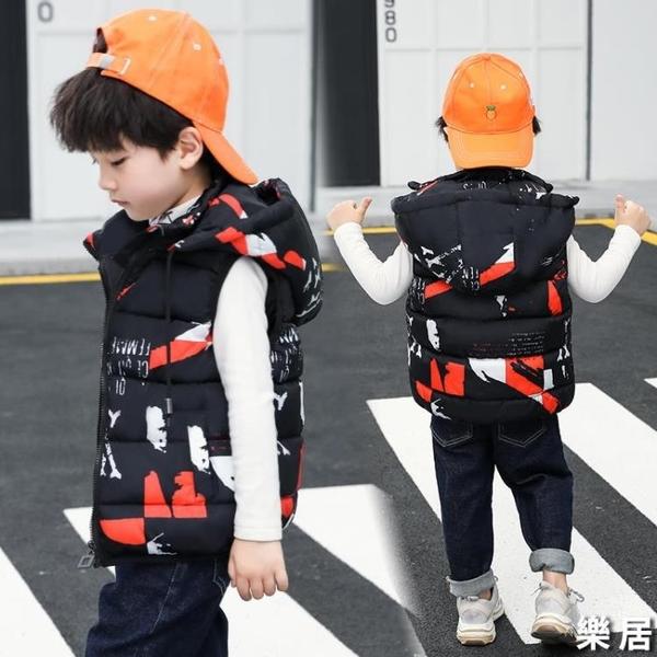 兒童馬甲 秋冬羽絨棉男童外穿坎肩小孩中大童背心寶寶童裝加厚馬夾【快速出貨】