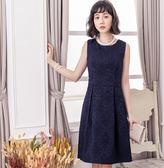 美之札[88112-S]奢華高雅歐風無袖提花洋裝小禮服~美之札