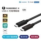 Pasidal Thunderbolt 4 雙USB-C 充電傳輸線 (Passive-0.8M)