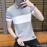 短袖t恤男士2019夏季新款男裝襯衫領半袖打底衫polo衫上衣服小衫cc99【Rose中大尺碼】