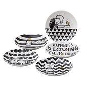 日本製史努比盤子餐盤陶瓷盤5件組英文字小202500通販屋