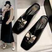 穆勒鞋 女鞋春季新款韓國半拖鞋ins少女心百搭平底超時尚防滑穆勒鞋  卡洛琳