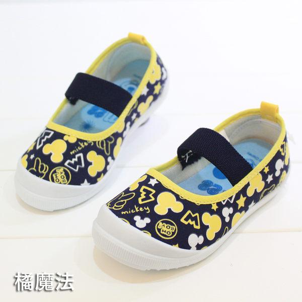 米奇 disny 軟膠底休閒鞋 帆布鞋 室內鞋 兒童 橘魔法 Baby magic 現貨 童鞋 便鞋 兒童幼稚園室內鞋