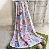【夏末出清】義大利Fancy Belle《甜蜜小雨傘》色坊針織涼被(100*140CM)