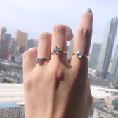 1克拉仿真鉆戒女六爪50分結婚莫桑石2克拉情侶對戒潮簡約鋯石戒指「輕時光」