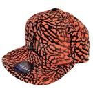 Nike 帽子 Jordan Jumpman Seasonal Snapback 橘 黑 爆裂紋 棒球帽 【ACS】 724901-808
