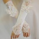 婚紗手套新娘手套露指新款長手套