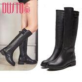 冬季新款歐美低跟方跟時尚長筒齊膝靴女DW17D1569D     韓小姐