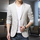 小西男韓版修身外套男西服青年加肥加大單西休閒加絨上衣 koko時裝店