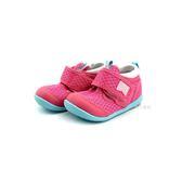 小童 日本月星 MOONSTAR 魔鬼氈 透氣運動鞋學步鞋 《7+1童鞋》B499 粉色