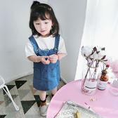 女童牛仔背帶裙夏季2018新款韓版嬰兒洋氣連衣裙 HH2157【潘小丫女鞋】