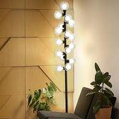 後現代落地燈臥室 北歐簡約高端小圓球LED立燈書房時尚客廳落地燈