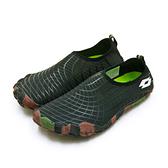 LIKA夢 LOTTO 多用途戶外休閒運動溯溪機能護趾水鞋 AQUWEAR系列 黑迷彩 0900 附收納袋 男