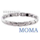 【MOMA】白鋼鍺磁手鍊-子彈窄版...