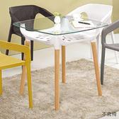 【森可家居】伊達休閒桌(白色)(不含椅) 8CM1000-1 洽談桌 商業桌