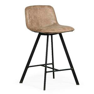 【YFS】Gill淺咖布鐵腳高吧椅-45x56x88cm