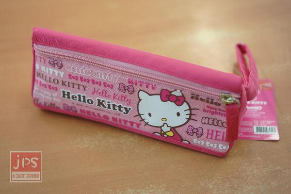 Hello Kitty 三角手提布筆袋 (粉蝴蝶結)