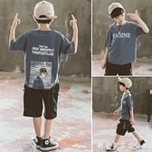 童裝男童夏裝套裝新款中大童嘻哈男孩韓版帥氣洋氣兒童短袖潮
