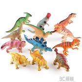 12個一套過家家仿真軟膠會叫恐龍玩具益智安全恐龍模型玩具 3C優購