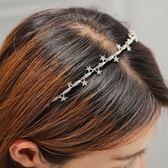頭飾發飾發箍珍珠水雙層細頭箍正韓簡約甜美清新雛菊髮卡【閒居閣】