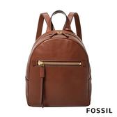 FOSSIL MEGAN 咖啡色真皮迷你背包 ZB7693200