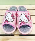 【震撼精品百貨】Hello Kitty 凱蒂貓~台灣製正版成人按摩拖鞋-桃花(23~25號)#18150