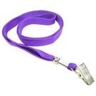 無印字識別證件吊式布帶/掛繩/識別帶 紫
