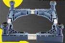 洗衣機置物架底座托架海爾底座通用專用4個升降腳