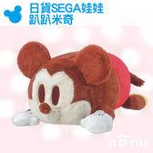 Norns【日貨SEGA娃娃 趴趴米奇】日本景品  迪士尼 米老鼠 抱枕 靠墊 絨毛玩偶 可愛 禮物 趴姿