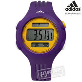 adidas 愛迪達 / ADP3148 / Performance 衝刺任務運動電子腕錶 黃x紫 41mm