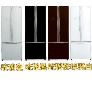 【HITACHI 日立】421L 三門對開琉璃變頻冰箱 RG430琉璃白