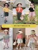 親子裝奶油媽2020夏裝女童短袖T恤寬鬆半袖洋氣兒童新款銅氨絲親子裝潮 新品