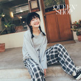 Queen Shop【01110409】灰色素面短版不收邊上衣*現+預*
