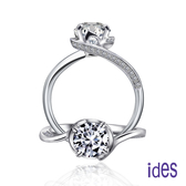 ides 愛蒂思 精選1克拉設計款E/VS2八心八箭完美車工鑽石戒指/迴旋
