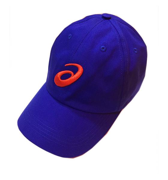Asics Baseball Cap [Y31751-50] 男 帽子 鴨舌帽 六分割 運動 遮陽 經典 基本 穿搭 藍
