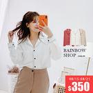 V領排釦單口袋襯衫-I-Rainbow【A420155】
