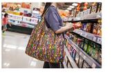 日本加厚超市購物袋防水環保袋折疊便攜袋女單肩包實用超大號