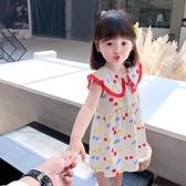 女童洋裝 女童連身裙夏洋氣兒童裙子夏款娃娃領公主裙薄款時髦夏裝寶寶裙子-Ballet朵朵